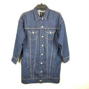 Zara Trafaluc Collection Long Denim Jacket